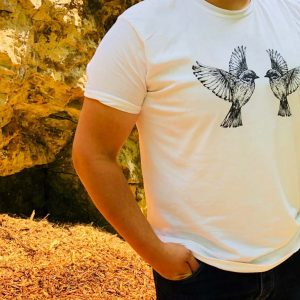 The Birds bespoke designed t-shirt.